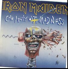 IRON MAIDEN CAN I PLAY WITH MADNESS 45RPM WHITE LABEL RADIO PROMO  W/PIC SLEEVE