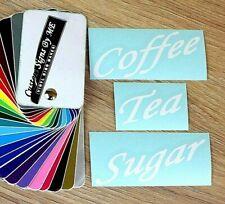 Coffee Tea Sugar Personalised Jar Storage Labels Stickers Vinyl Decals Adhesive