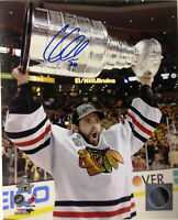 COREY CRAWFORD  ( CHICAGO BLACKHAWKS )  - TWO  5 x 7 SIGNED PHOTO REPRINTS