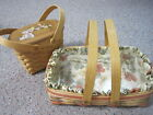 2 Royce Craft Baskets - 2003 2004 - Movable Handles and Plastic Protectors