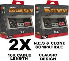 2x CirKA NINTENDO NES Controller 10ft CABLE  NTSC and Clone Compatible  [F03]