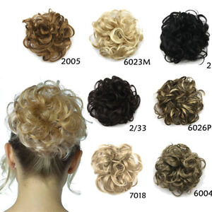 Messy Curly Bun Scrunchies Natural Elastic Wrap Hair Piece Updo Hair Extensions