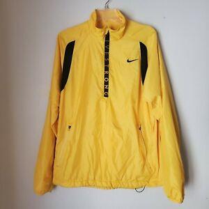 Nike Men's Size Medium Livestrong Yellow Pullover Windbreaker Jacket 1/2 Zip