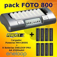 PHOTO-800 - Powerex MH-C800S Ladegeräte + 8 Akku Eneloop PRO 2500mAh AA