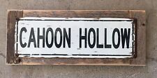 Cahoon Hollow Beach Wellfleet Beachcomber Vintage Frame Metal Street Style Sign