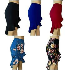 Woman Asymmetrical Midi Skirt Peplum Pencil High-Low Skirt Made in USA *Falda*