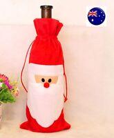 Christmas Eve Santa Wine Bottle Cover Bag Party Decor Pouch Decoration Gift
