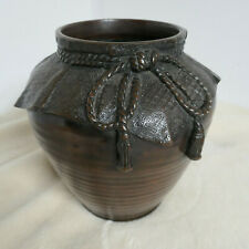 Antique Bronze Flower Vase Kado Collectable Japanese Marked #11