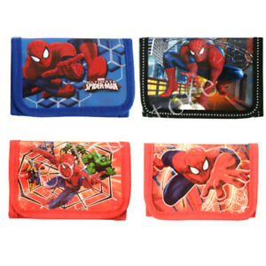 Superhero Spiderman Coin Wallet Trifold Zip Boy Coin Purse Kids Party Pouch Gift