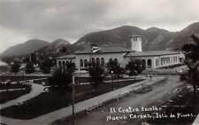 NUEVA GERONA, ISLA DE PINOS, CUBA, EL CENTRO ESCOLAR OVERVIEW, RPPC c. 1930's