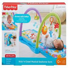 Fisher-Price DRD92 Kick-N-Crawl Musical Seahorse Gym, Baby Play Mat for...