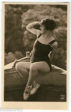 CPA 409-5 BAIGNEUSE GARCONNE ART DECO MISS PIN-UP NUE FLAPPERS BATHING BEAUTY