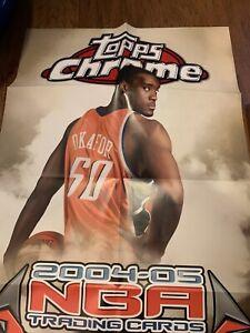 2004-05 Topps Chrome Basketball Poster Promo Emeka Okafor