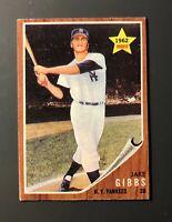 1962 Topps #281 Jake Gibbs Rookie New York Yankees EX