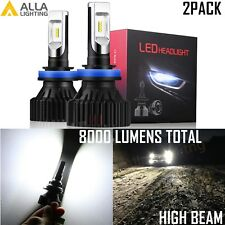 Alla Lighting 8000lm H9 LED Headlight Headlamp High Beam Light Bulbs Lamps,2pcs