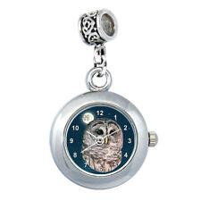 Eule -  European Bead Uhr für Armbänder und Ketten EBA029