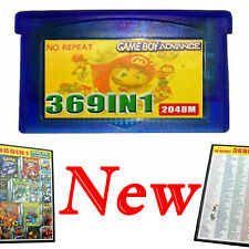 100% NEW 369 in 1 Games Cartridge Multicart Card for GBA NDS GBA SP GBM NDS NDSL