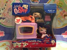Littlest Pet Shop Dachshund 932 & kitty cat 933 portable Sassiest Gift Set NIB
