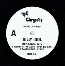 "BILLY IDOL - 12"" - Mega-Idol Mix - Flesh For Fantasy, Hot  UK Promo.  Chrysalis"