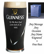 Personalised Engraved Guinness Pint Glass Birthday dad gifts Usher gifts