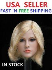 """1/6 Avril Lavigne Blonde Short Hair Head Sculpt For 12"""" PHICEN TBLeague Figure"""