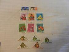 Lot of 13 Gabon Stamps, 1961, 1970, 1971, Flowers, Planes, Plants