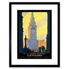 Travel Tourism Transport Cleveland Ohio Union USA Framed Wall Art Print