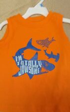 NWT  BOYS SIZE 18 mo totally jawsome shark T SHIRT  GREAT GIFT