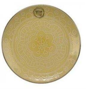 Floral yellow Dinner Plate