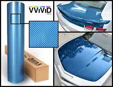 Blue carbon hi gloss tech art laminated vinyl car wrap 3ft x 5ft 3 layer DIY