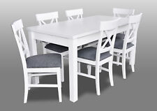 Country House Style Furniture Dining Room Set Table+6x Chairs