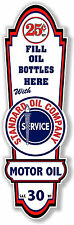 """24"""" X 8"""" STANDARD OIL COMPANY LUBSTER FRONT DECAL LUBESTER OIL CAN / GAS PUMP"""
