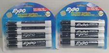 Lot Of 2 Expo 80661 Low Odor Dry Erase Markers Chisel Tip Black 4 Count