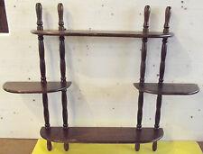 Ancienne étagère à Épices de Cuisine Vintage Bois  61cm x 48cm x 9,5cm 1970