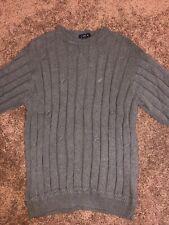 Vintage Mens NAUTICA Grey Blue sweatshirt  XL pullover long sleeve Nautical Gray