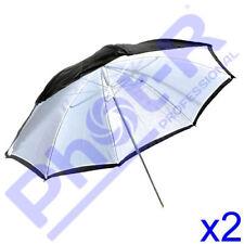 """Phot-R Professional 2x 33""""/83cm 2-in-1 Black/White Studio Collapsible Umbrella"""