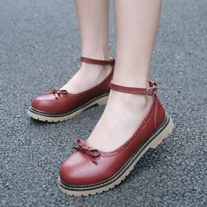 2017 Spring Autum Women Retro Single Casual Shoes Student Flat Leather Shoes