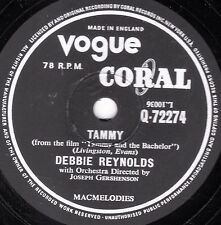 "DEBBIE REYNOLDS 78 TAMMY -from Film ""TAMMY & THE BACHELOR"" VOGUE CORAL Q72274 E-"