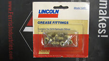 """New Lincoln 5491 1/4""""-28 X 90° Angle Taper Short Thread Grease Zerk Pack"""