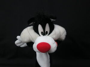 VINTAGE 1994 LOONEY TUNES CARTOON SYLVESTER CAT PUPPET APPLAUSE PLUSH TOY