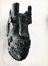 Art Brut Primitif Sculpture Totem Masque Photo P. Joly V. Cardot c. 1970  ART 84