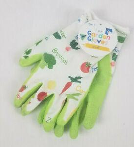 NWT Kids Gardening Gloves Veggies Fruits or Stripes Garden Many Sizes Ages 8+