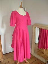Rare Vintage Laura Ashley Pink Dress Edwardian Style size 12