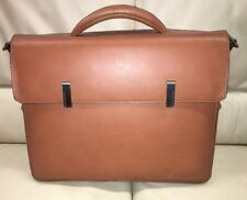 $680 Piquadro Briefcase Leather Laptop Mens Bag Made in Italy No Strap