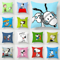 Home Decor Cute Snoopy Pillow Case Car Bedroom Sofa Pillowcase Cushion Cover