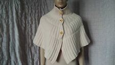 By Malene Birger butter heavy knitted 100% wool short cape shrug size M