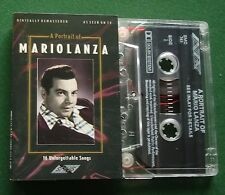 A Portrait Of Mario Lanza inc Granada / Drinking Song + Cassette Tape - TESTED