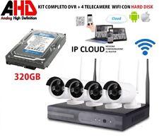 Kit wireless videosorveglianza wifi ahd full hd ip cam 4 telecamere nvr RAPIDA