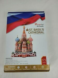 Cubic Fun ST. BASIL'S CATHEDRAL 3D Puzzle  New Open Box 173 Pieces