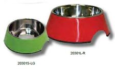 Pet One P1-20301M-LG Bowl Round 350ml Melamine/Stainless Steel Lime Green